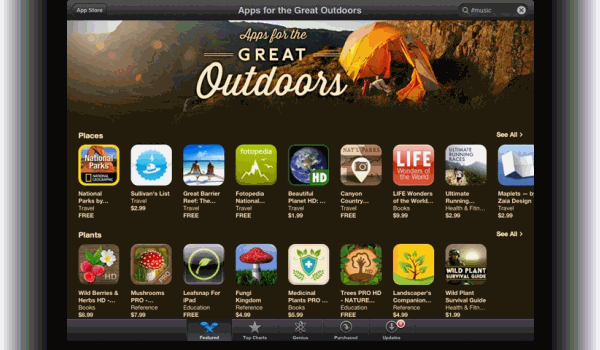Bringing the outdoors in: Creative nature apps